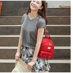 Handbags - Cute Mini Leather Backpack Fashion for Girls and W